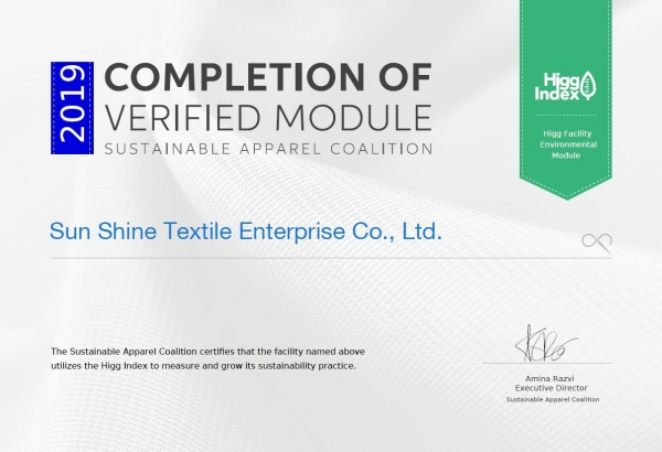 Obtained Higg Index Certification